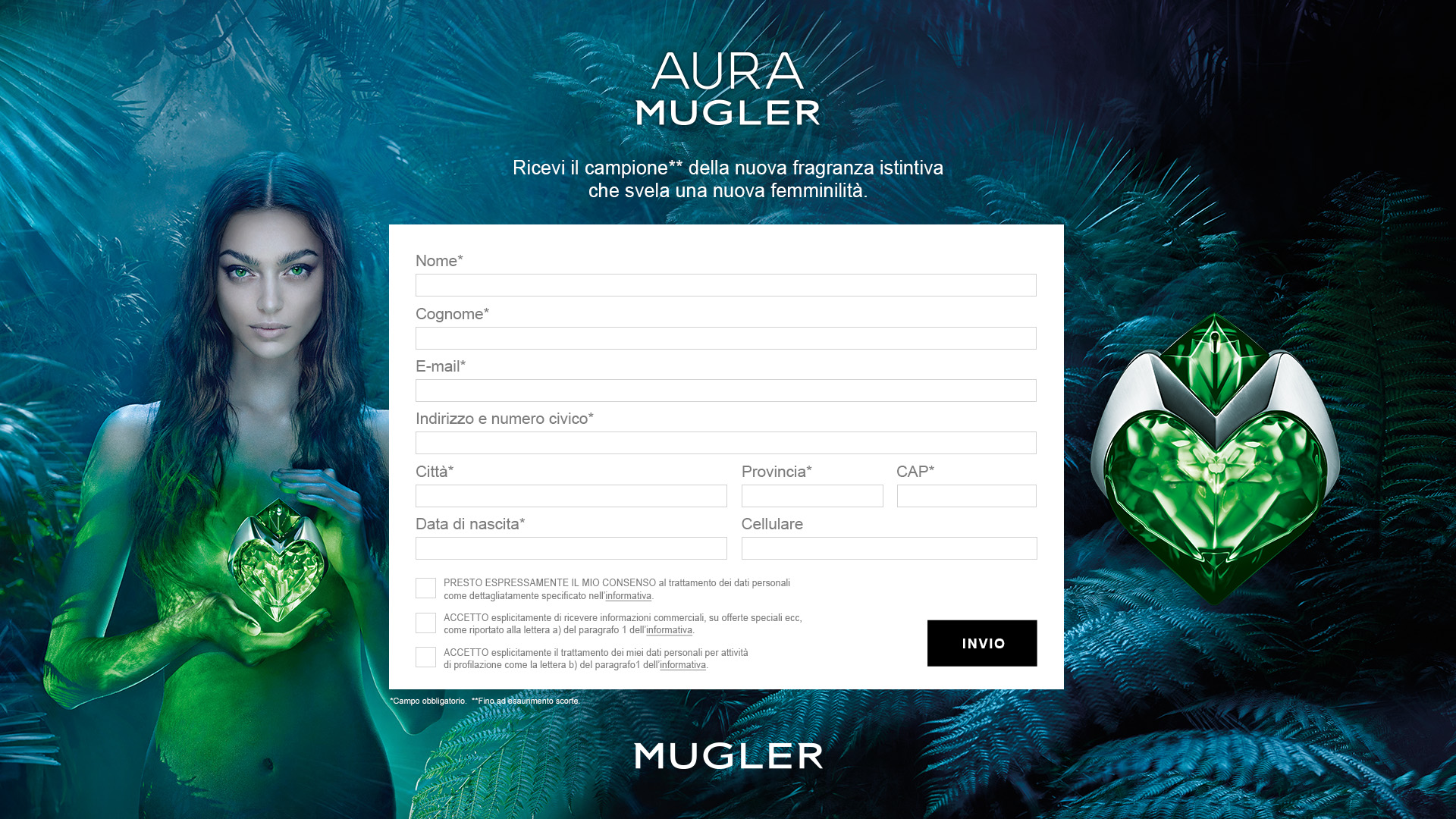 Landing Page Mugler 2018